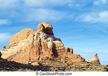 Rock Pinnacle in Arches National Park, Utah, Usa