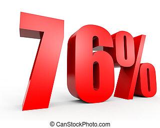 Discount 76 percent off. 3D illustration. - Discount 76...