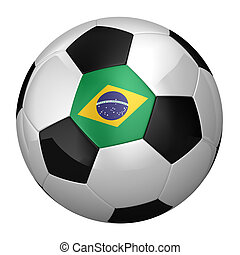 Brazilian Soccer Ball isolated over white background
