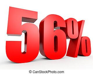 Discount 56 percent off. 3D illustration. - Discount 56...
