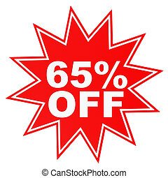 Discount 65 percent off 3D illustration - Discount 65...
