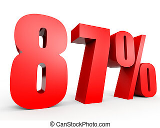 Discount 87 percent off. 3D illustration. - Discount 87...