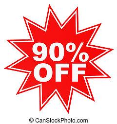 Discount 90 percent off 3D illustration - Discount 90...