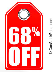 Discount 68 percent off 3D illustration - Discount 68...