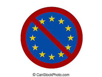 Political issues series: \'Euro-sceptic\' concept. Photo...