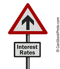 Financial / political concepts series: rising interest rates.