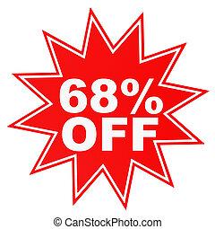 Discount 68 percent off. 3D illustration. - Discount 68...