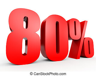Discount 80 percent off 3D illustration - Discount 80...