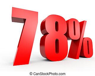 Discount 78 percent off. 3D illustration. - Discount 78...