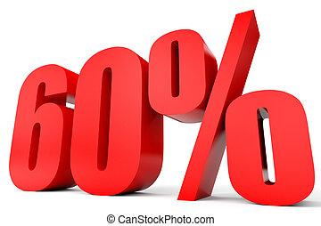 Discount 60 percent off 3D illustration - Discount 60...