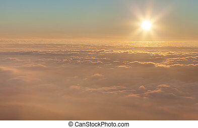 Sun above the clouds - Landscape. The sun above the clouds