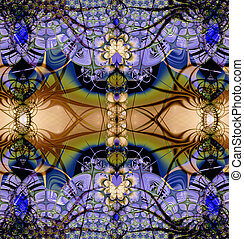 Colorful Fractal Background A fractal is a natural...