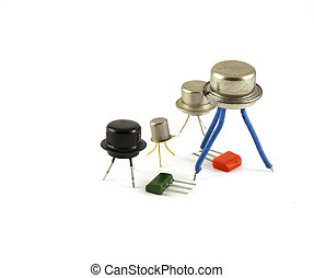 électronique, composants, -, Transistors