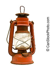 Rusty Old Lantern - Vertical shot of a Rusty Old Lantern on...