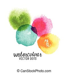Watercolour Vector Dots Colourful watercolour stains Vector...