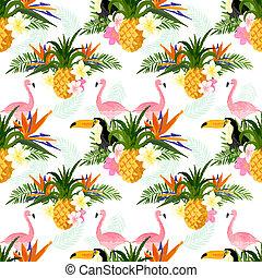 Seamless Tropical Pattern. Tropical summer seamless pattern...