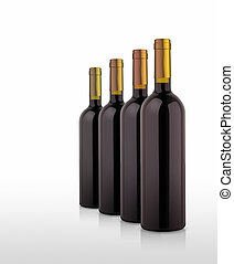wine bottles - An illustration of some nice wine bottles