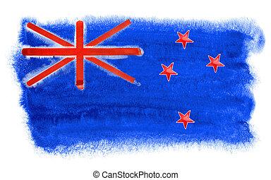 New Zealand flag illustration