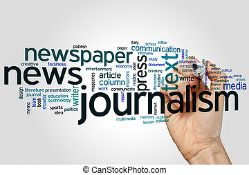 Journalism word cloud - Journalism concept word cloud...