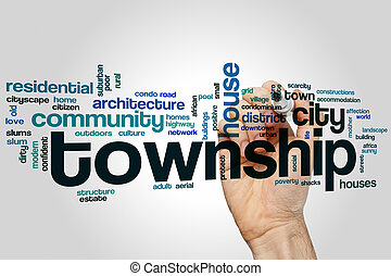 Township word cloud concept