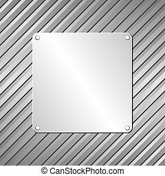plaque - metallic plaque on textured background