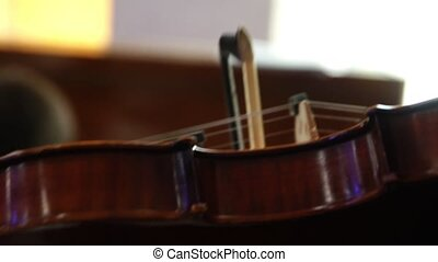 Close-up of violin - Close-up of playing the violin HD