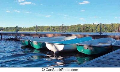 Boats berthed at the Lake HD
