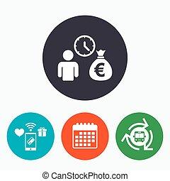 Bank loans sign icon Get money fast symbol Borrow money...