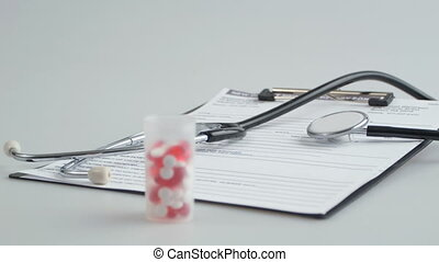 Things for health care. - Daily essentials. Close up shot of...