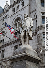 Benjamin Franklin Statue, Old Post Office Building,...