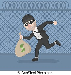 Business man thief stole money