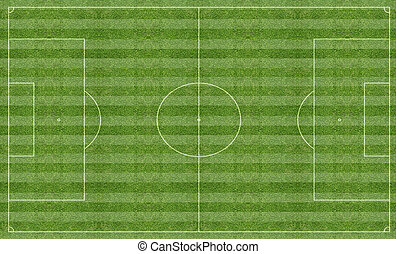 Football pitch with markings - Illustration of a football...