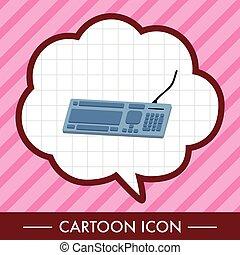 computer theme Keyboard elements vector
