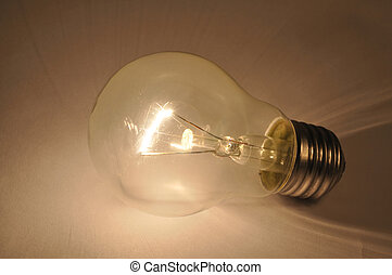 Light bulb - Macro of light bulb on dark background