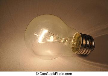 Light bulb - Macro of light bulb on dark background