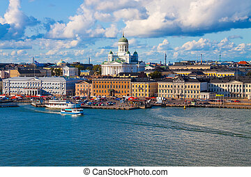 Summer panorama of Helsinki, Finla - Summer panorama of...