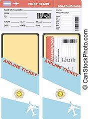 Flight passenger flying to Argentina - Flight of the...