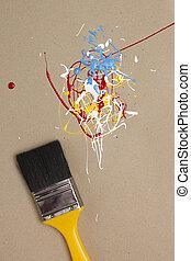 Pintura, diferente, colores, muestras