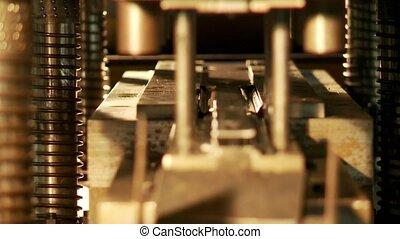 Automated machine close-up watch HD