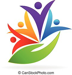 People care logo - People care. Concept of medical business...