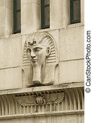 Egyptian style relief - London building decoration in the...