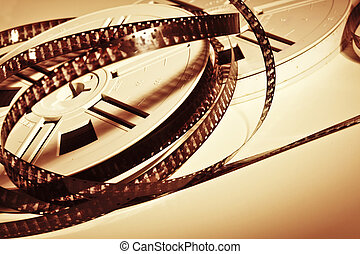 movie film - classic vintage movie film background