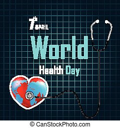 World Health Day with heart - Illustration of World Health...