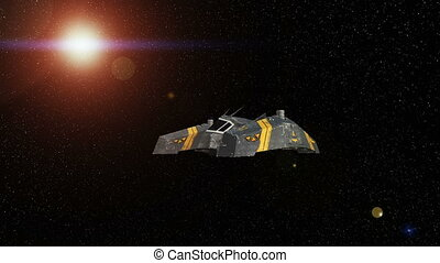 Space ship - 3D CG rendering of a space ship