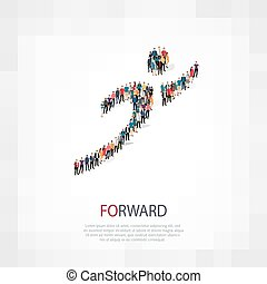 forward people crowd - Isometric set of styles , forward ,...