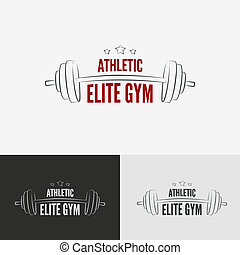 Athletic gym logo concept. Symbol for sport athletic club,...