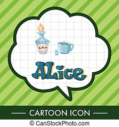 alice in wonderland theme elements