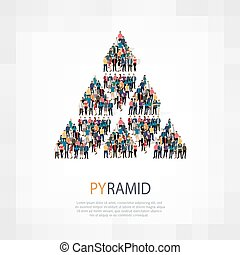 pyramid people sign - Isometric set of styles, pyramid , web...