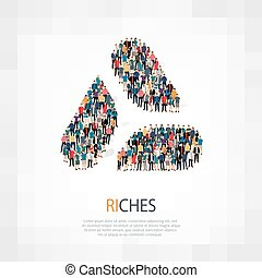 riches people sign - Isometric set of styles, riches , web...