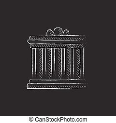 Acropolis of Athens Drawn in chalk icon - Acropolis of...
